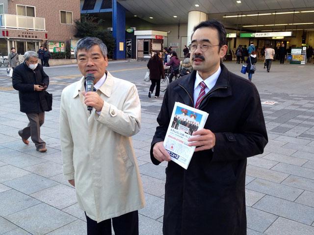 赤羽駅東口でのあいさつ